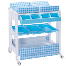 Blue Changing Table Infant Baby Bath Changing Table Station W Changing