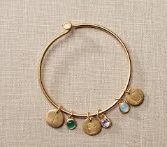 personalized kids jewelry gold personalized birthstone bracelet pottery barn kids