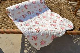 Shabby Chic Tablecloth shabby chic quilted bedspread rose print cotton quilt discovered