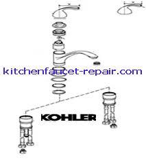 kohler single handle kitchen faucet repair amusing kohler kitchen faucet parts small kitchen remodel