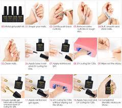 elite99 soak off metallic gel nail polish uv led reinforce gel