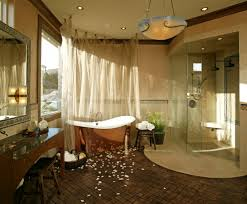 bathrooms attic bathroom with shiny copper bathtub and small