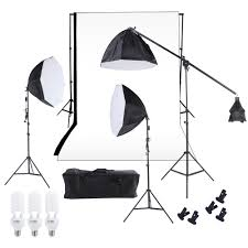 photography backdrop stand photography studio lighting softbox photo light muslin backdrop