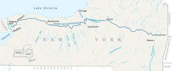 map of the erie canal erie canal wikiwand