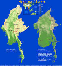 World Geography Map Myanmar Archives Views Of The World