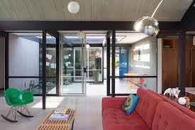 redesigned eichler home in california features pops of color