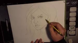 how to draw faces in pencil three fourths view faces youtube