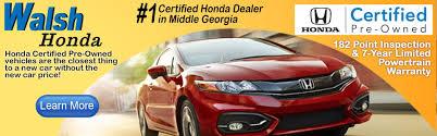 Ga Vehicle Bill Of Sale by Walsh Honda New U0026 Used Car Suv U0026 Truck Sales Macon Ga Honda