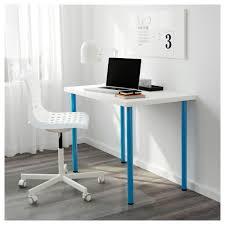 Blue Computer Desk Adils Linnmon Table White Blue 100x60 Cm Ikea