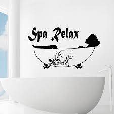 online get cheap spa wall murals aliexpress com alibaba group spa relax simple quotes art wall decals home rooms special decorative wall murals woman silhouette modern