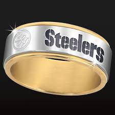 pittsburgh wedding bands pittsburgh steelers spinner ring the danbury mint