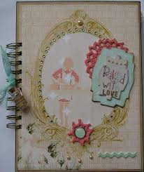 handmade scrapbook albums ooak handmade vintage baked with recipe scrapbook junk
