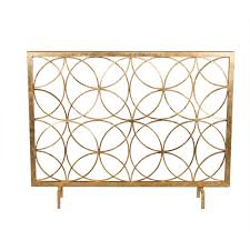 antique gold circles fireplace screen dessau home screens fireplace