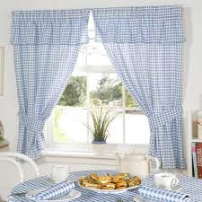 Gingham Curtains Blue Red And White Gingham Kitchen Curtains