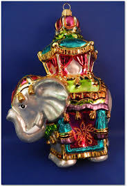 hindu elephant india blown glass ornament zoo animal