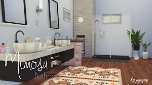 Scandinavian Bathroom Accessories by My Sims 4 Blog Mimosa Bathroom Set By Pyszny