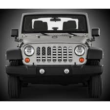 jeep white wrangler under the sun distressed black white wrangler jk grille insert