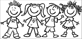 fall kids clipart black and white clipartxtras
