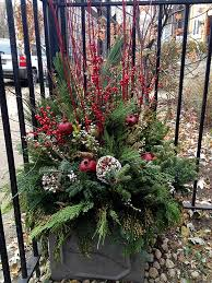 Christmas Decorations For Outdoor Containers by 43 Best Clinic Images On Pinterest Christmas Urns Christmas
