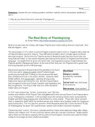 real story of thanksgiving students pilgrim fathers colonial