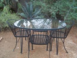Woodard Wrought Iron Patio Furniture Woodard Pinecrest Wrought Iron Patio Table U0026 4 Chairs Vgc Patio