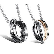 Mens Engraved Necklaces Forever Love Matching Jewelry Set For Him And Her Personalized