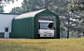 peak style boat and rv portable garage available in different sizes