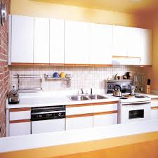 Particle Board Kitchen Cabinets Cherry Wood Bright White Raised Door Paint Laminate Kitchen