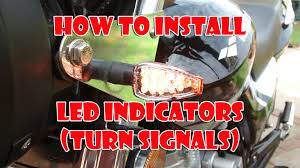 how to install led indicators turn signals on a motorcycle youtube