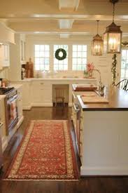 Cottage Kitchen Lighting by Exposed Wood Beams Cottage Kitchen Gulf Shore Design