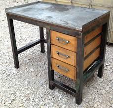 bureau bois et metal bureau industriel bois et metal bureau metal bois bureau