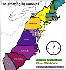 the thirteen colonies map the 13 colonies map my