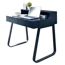 bureau bois noir bureau en imitation trend bureau bois et noir
