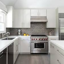 brick tile kitchen backsplash gray mini tile kitchen backsplash design ideas