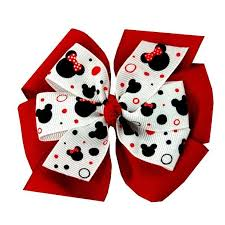minnie mouse hair bow large layered minnie mouse hair bow katiebug bows llc