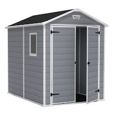 Lowes Outdoor Sheds by Shop Keter Manor Gable Storage Shed Common 6 Ft X 8 Ft Actual