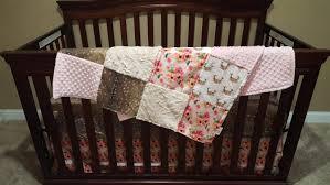 Deer Crib Bedding Baby Crib Bedding Floral Antlers Deer Skin Flowers Ivory