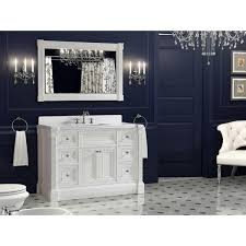 inch white finish single sink bathroom vanity cabinet with mirror