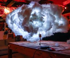 How To Make Led Light Bar by L E D Clouds Chicken Wire Shorts And Cloud