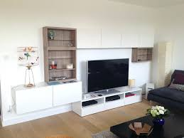 Livingroom Shelves Modern Wall Mounted Ikea Living Room Storage In White With Brown
