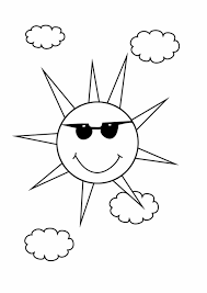 coloring page sun newcoloring123