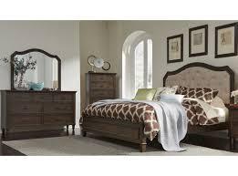 Heights Antique Washed Walnut Queen Panel Bed - Berkeley bedroom furniture