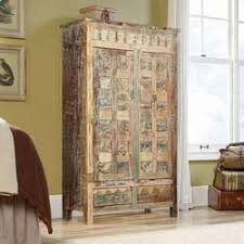Wooden Armoire Wardrobe Turkish Splendor Mango Wood Armoire Wardrobe Cabinet