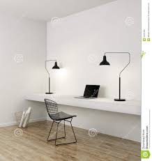 minimal home elegant minimal white home office stock photo image 50031385