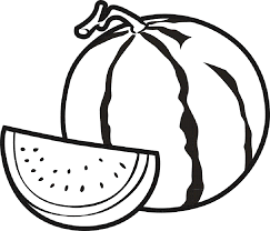 watermelon fruit coloring pages for kids bi printable fruits