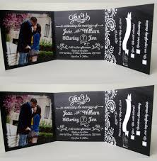 tri fold wedding invitations with tear off rsvp template tags