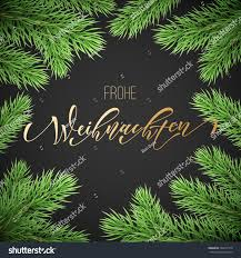 frohe weihnachten german merry christmas holiday stock vector