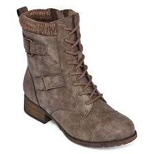 womens boots on sale jcpenney pop cooper womens combat boots jcpenney