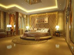 good romantic bedroom design with classic carpet and sofa