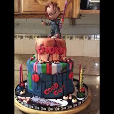 birthday cake halloween chucky cake horror movie cakes pinterest chucky cake and